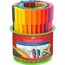 Carioci 45 culori Connector in suport Mesh Faber Castell