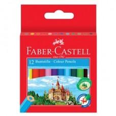 Creioane colorate 12culori lungime 1/2 Faber Castell
