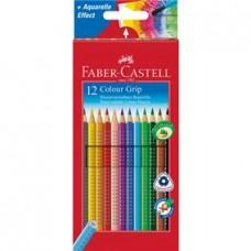 Creioane colorate 12cul/set Grip 2001 Faber Castell