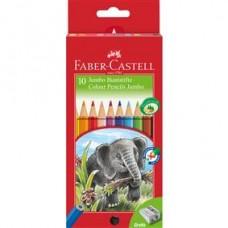 Creioane colorate 12culori Jumbo Faber Castell
